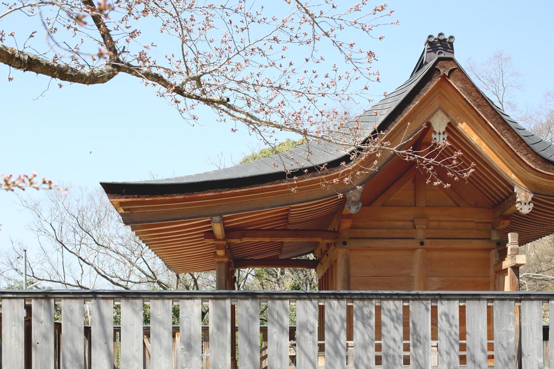 平安様式で再建された備前国総社宮の御正殿